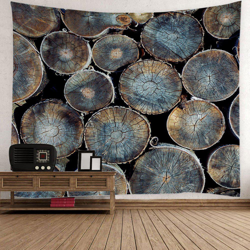 Natural Wood Fabric Wall Decor Hanging Tapestry - COLORMIX W79 INCH * L59 INCH