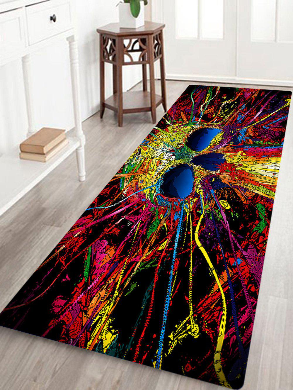 Skull Pattern Indoor Outdoor Area Rug - COLORMIX W24 INCH * L71 INCH