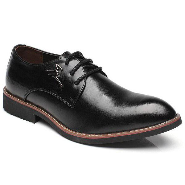 Enjoliveur en métal Faux Leather Formal Shoes - Noir 43