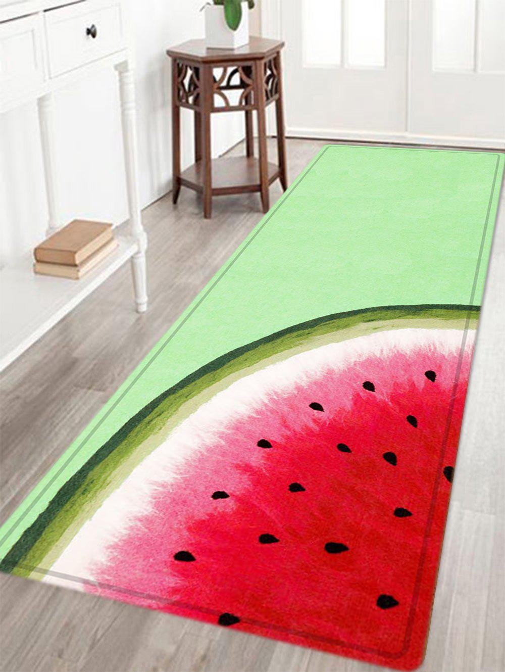 Watermelon Pattern Water Absorbing Area Rug - WATERMELON RED W24 INCH * L71 INCH