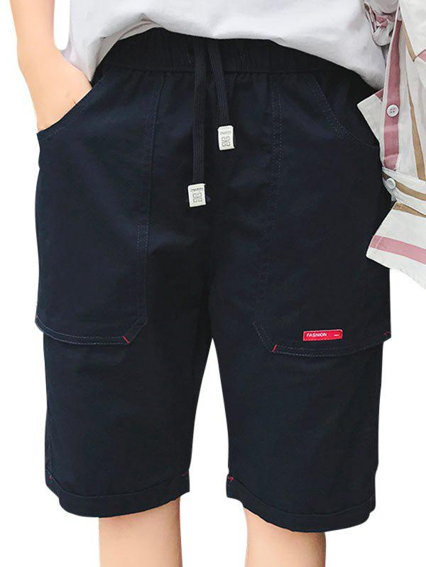 Label Design Big Pocket Shorts - PURPLISH BLUE 4XL