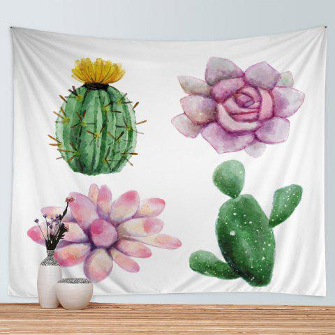 Wall Hanging Art Plantes succulentes Print Tapestry - multicolore W79 INCH * L59 INCH