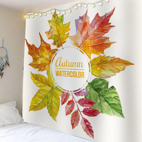 Aquarelle Maple Leaf Waterproof Wall Tapestry - coloré W79 INCH * L59 INCH