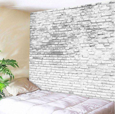 Stone Brick Decorative Tapestry Wall Hangings - GREY WHITE W59 INCH * L79 INCH