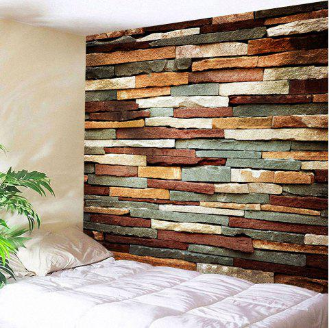 Wall Art Vintage Stone Brick Tapestry For Bedroom - COLORMIX W59 INCH * L59 INCH