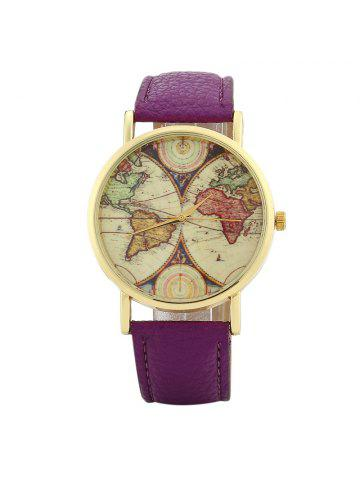 2018 world map watch online store best world map watch for sale world map face faux leather strap watch sciox Choice Image