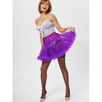 Ruffles Light Up Tutu Voile Cosplay Skirt - ONE SIZE ONE SIZE