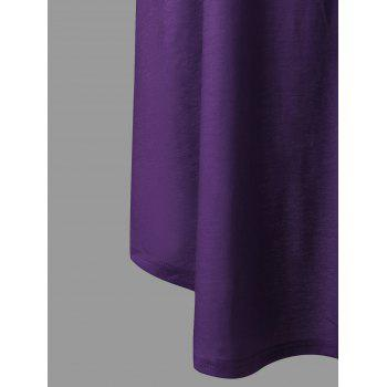Plus Size Ombre Tank Dress - PURPLE 3XL