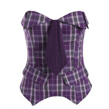 Checked Waist Training Corset