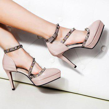 Ankle Strap Studs High Heel Pumps