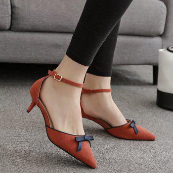 Bowknot Two Piece Suede Pumps