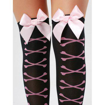 Overknee Elastic Bowknot Tights - ONE SIZE ONE SIZE