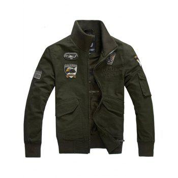 Zip Up Eagle Embroidery Jacket