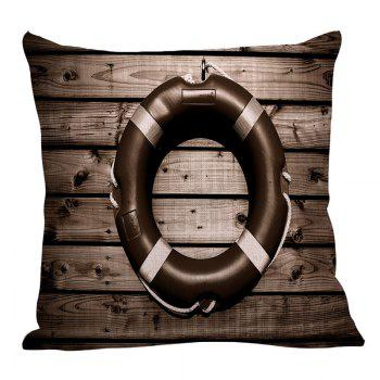 Vintage Steering Wheel Wood Grain Pillow Case - DEEP GRAY DEEP GRAY