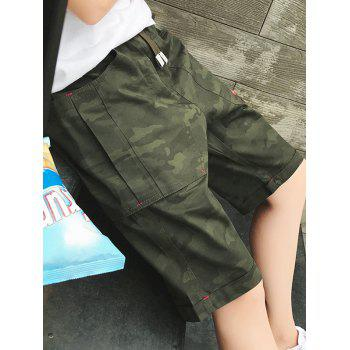 Big Pocket Casual Camouflage Shorts - Vert Armée 4XL