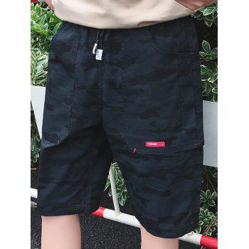 Big Pocket Casual Camouflage Shorts - PURPLISH BLUE 3XL
