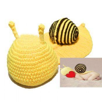 Cartoon Snail Shape Baby Knitted Hooded Blanket - COFFEE COFFEE