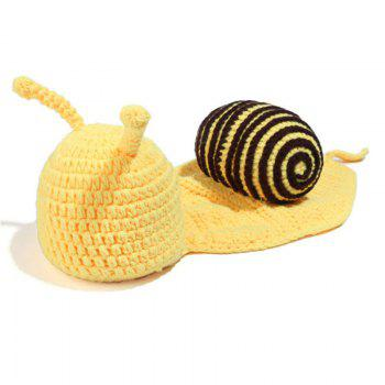 Cartoon Snail Shape Baby Knitted Hooded Blanket -  COFFEE