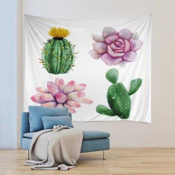 Wall Hanging Art Plantes succulentes Print Tapestry - multicolorcolore W79 INCH * L59 INCH