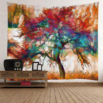 Oil Painting Maple Tree Wall Tapestry