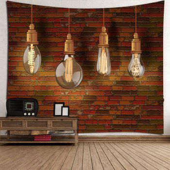 Waterproof Bulb Brick Wall Tapestry - DEEP BROWN W59 INCH * L51 INCH