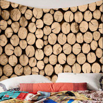 Waterproof Wood Print Wall Tapestry - BROWN W79 INCH * L59 INCH