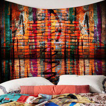 Brick Wall Waterproof Wall Art Tapestry - COLORFUL W79 INCH * L59 INCH
