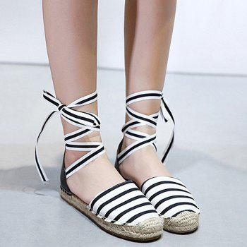 Espadrilles Striped Pattern Flat Shoes