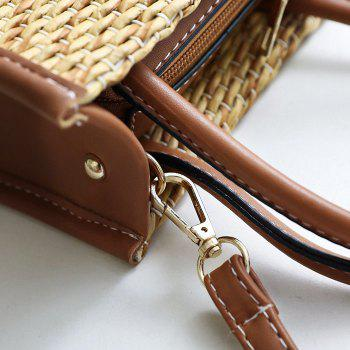 Straw Weave Tote Bag -  BROWN