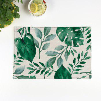 Plant Print Non Slip Heat Insulation Placemat