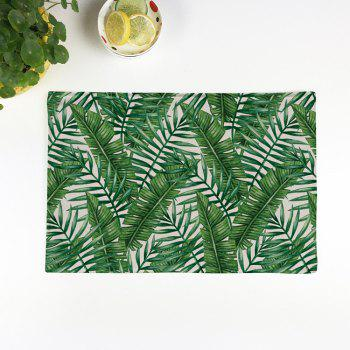 Heat Insulation Fern Plant Linen Placemat
