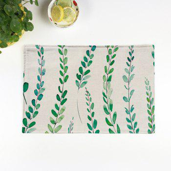Linen Tropical Plants Printed Placemat For Table