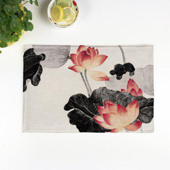 Dining Decor Chinese Lotus Heat Insulated Placemat