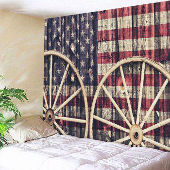 Distressed American Flag Wall Decor Tapestry
