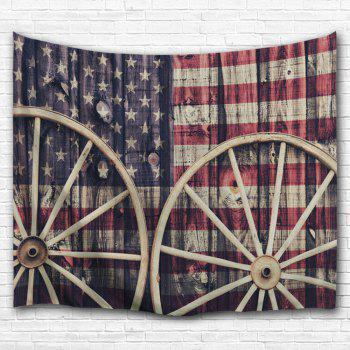 Distressed American Flag Wall Decor Tapestry - COLORMIX W59 INCH * L79 INCH