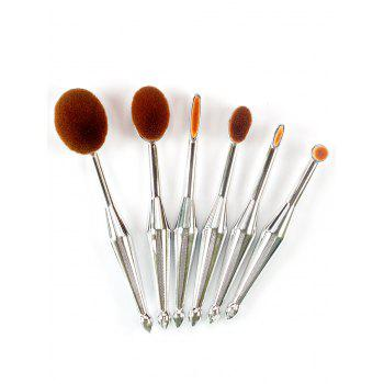 6Pcs Toothbrush Shape Facial Makeup Brushes Set