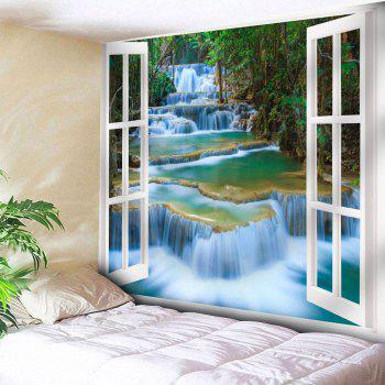 Window Scenery Pattern Wall Hanging Tapestry