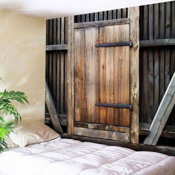 Country Wall Hanging Wood Door Printed Tapestry