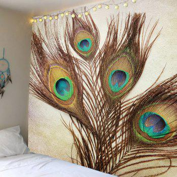 Peacock Feather Wall Art Tapestry