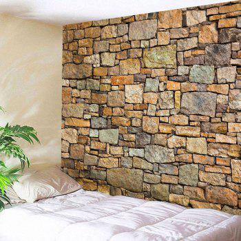Natural Stone Brick Print Wall Hanging Tapestry