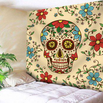 Wall Hanging Skull Flower Pattern Tapestry