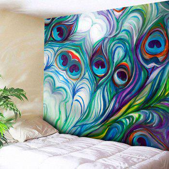 Peacock Feather Pattern Wall Hanging Tapestry
