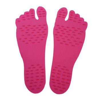 Foot Pads For Summer Beach Stick On Soles Flexible Feet Protection - RED RED