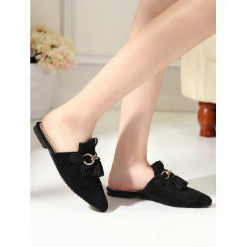 Pointed Toe Tassels Slippers - 38 38