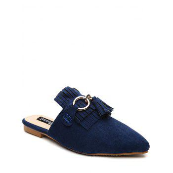 Pointed Toe Tassels Slippers - BLUE BLUE