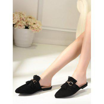 Pointed Toe Tassels Slippers - 37 37