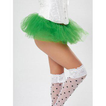 Tier Mesh Light Up Ballet Cosplay Skirt - GREEN GREEN