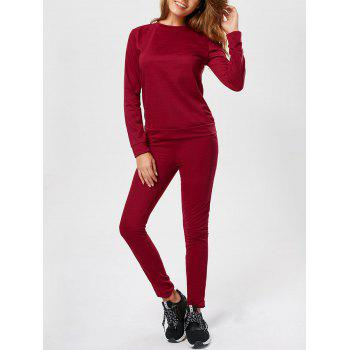 Casual Long Sleeve Track Two Piece Set