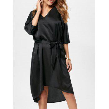 Oversized V Neck Satin Dress