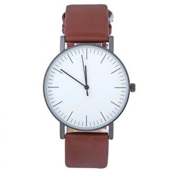 Faux Leather Band Minimalist Watch